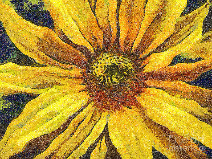 The Flower Painting  - The Flower Fine Art Print