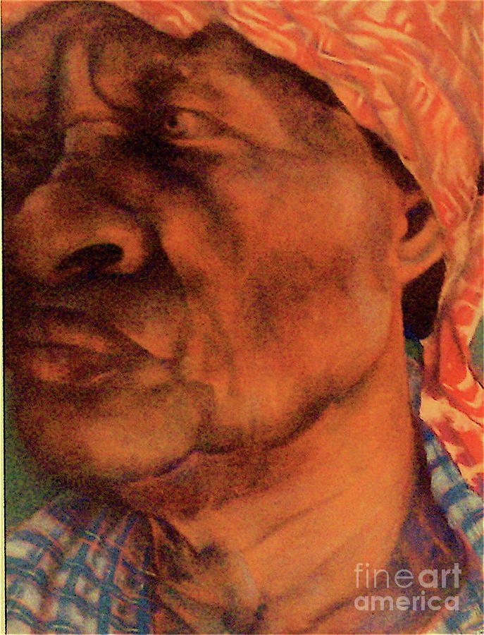 The Gaze Of Mother Witt Pastel  - The Gaze Of Mother Witt Fine Art Print