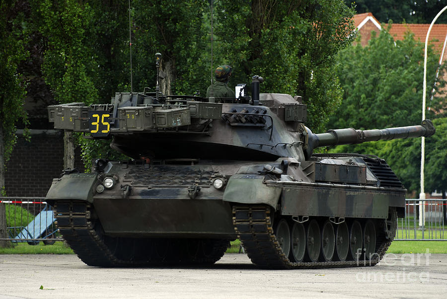The Leopard 1a5 Mbt Of The Belgian Army Photograph