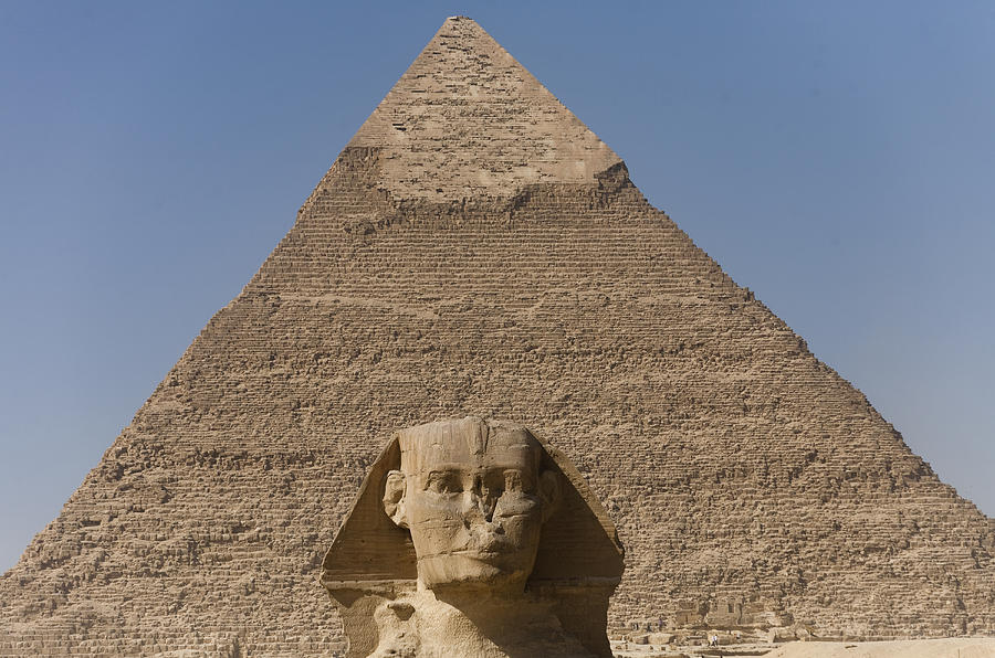The Sphinx Stands In Front Of The Great Photograph  - The Sphinx Stands In Front Of The Great Fine Art Print