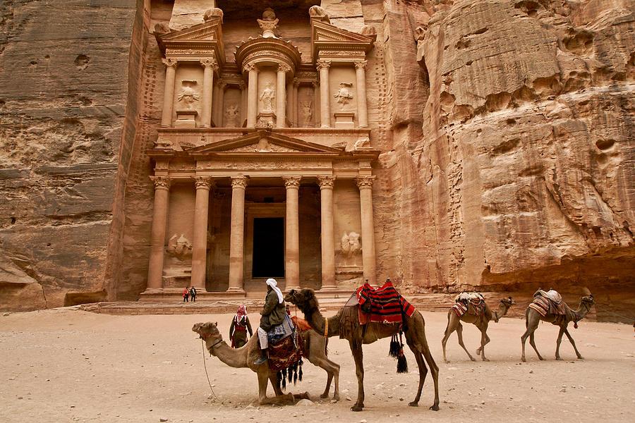 The Treasury Of Petra Photograph