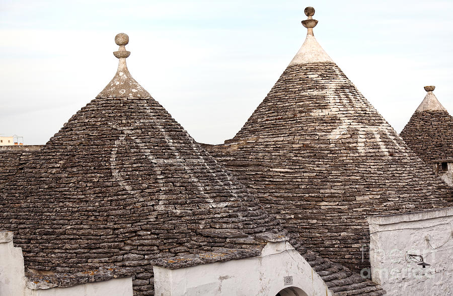 Trulli Roof And Blue Sky Photograph  - Trulli Roof And Blue Sky Fine Art Print