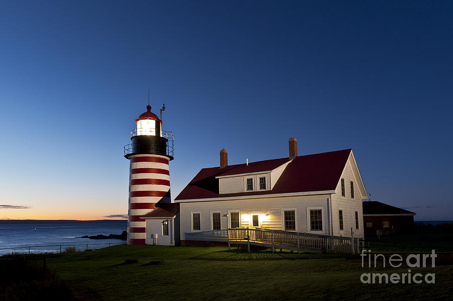 West Quoddy Head Lighthouse Photograph