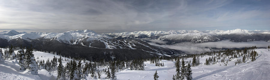 Whistler Mountain Peak View From Blackcomb Photograph  - Whistler Mountain Peak View From Blackcomb Fine Art Print