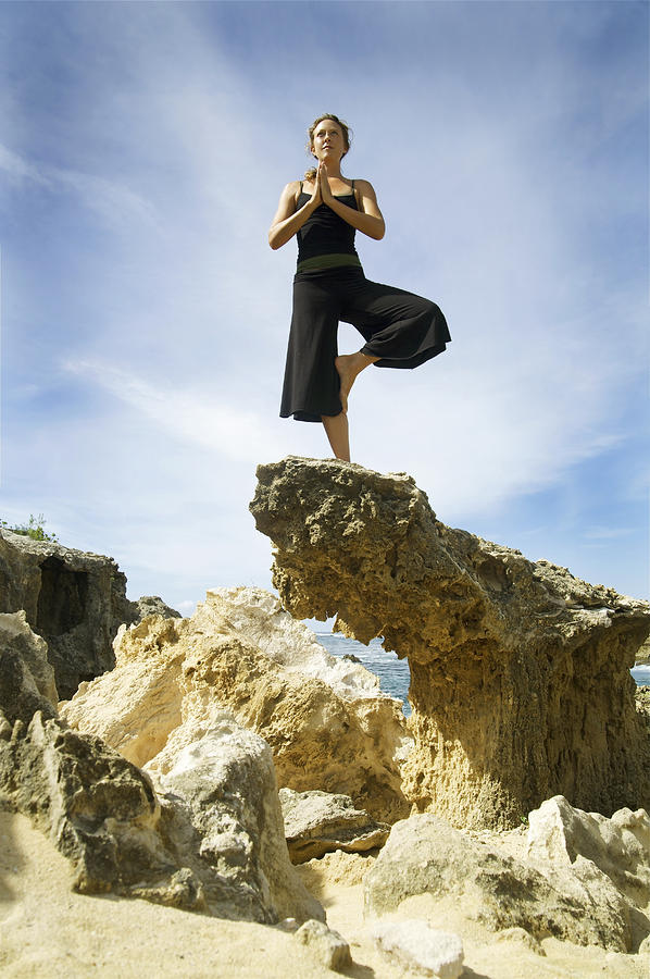 Woman Doing Yoga Photograph  - Woman Doing Yoga Fine Art Print