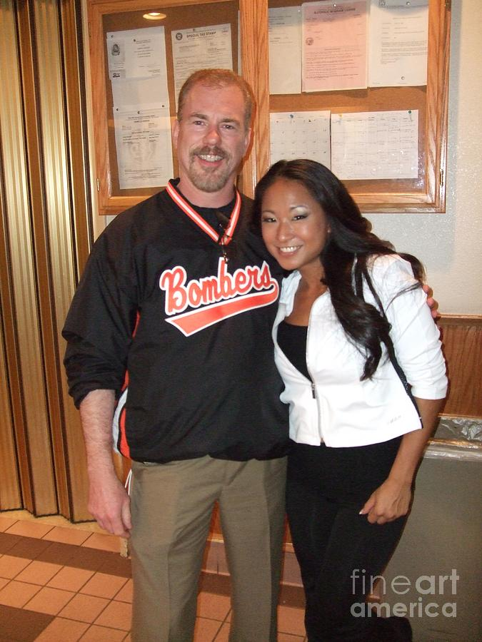 Womans World Champion Wrestler Gail Kim And Myself Photograph
