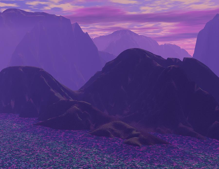 310 Purple Mountain Majesty Digital Art By Scott Bishop