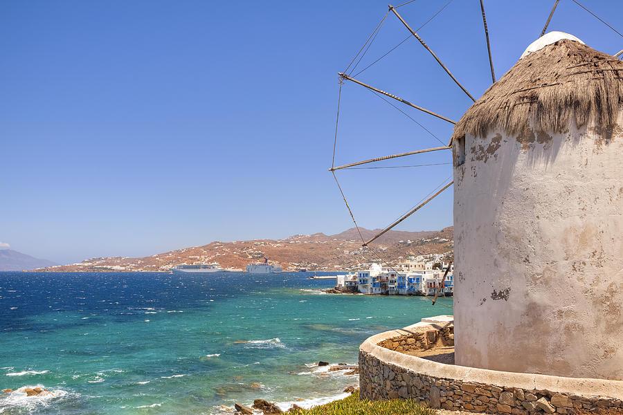 Windmills Photograph - Mykonos by Joana Kruse