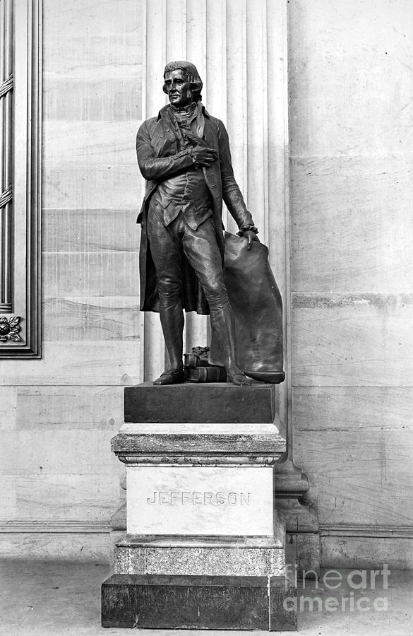 Thomas Jefferson (1743-1826) Photograph  - Thomas Jefferson (1743-1826) Fine Art Print