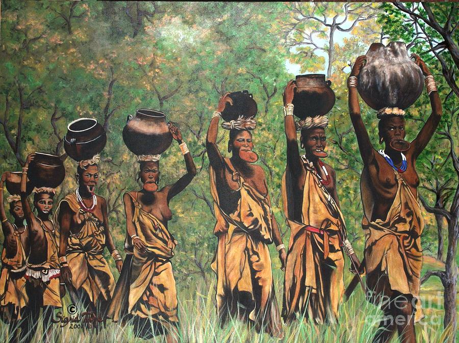 334 The Surma Women Painting  - 334 The Surma Women Fine Art Print