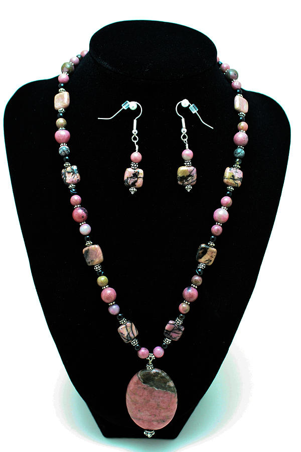 3571 Rhodonite Set Jewelry