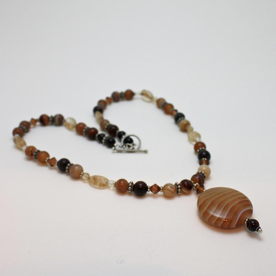 3574 Coffee Onyx Necklace Jewelry