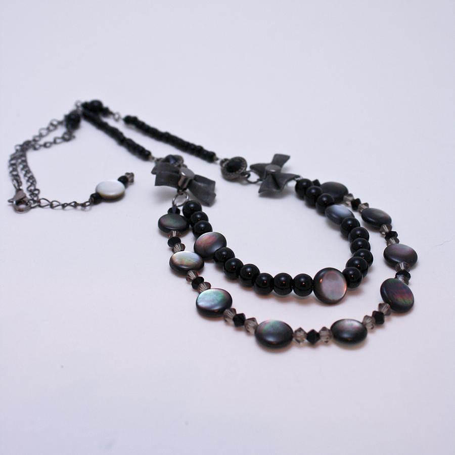 3587 Fun Gunmetal Necklace  Jewelry