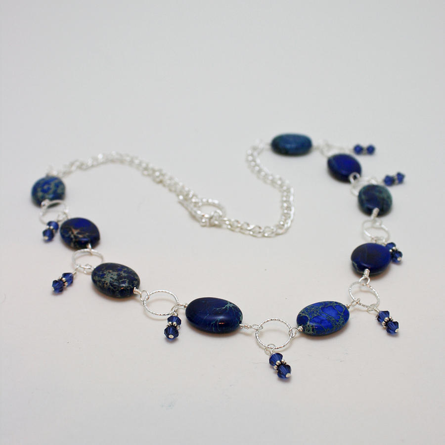 3589 Blue Sea Sediment Jasper Necklace Jewelry