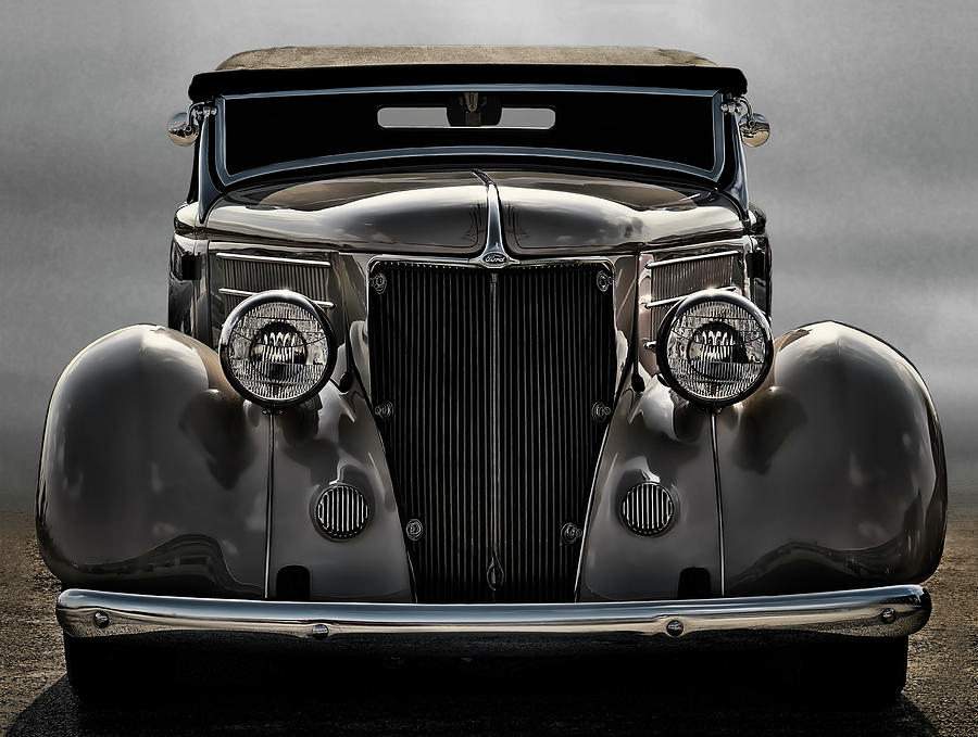 36 Ford Convertible Coupe Digital Art