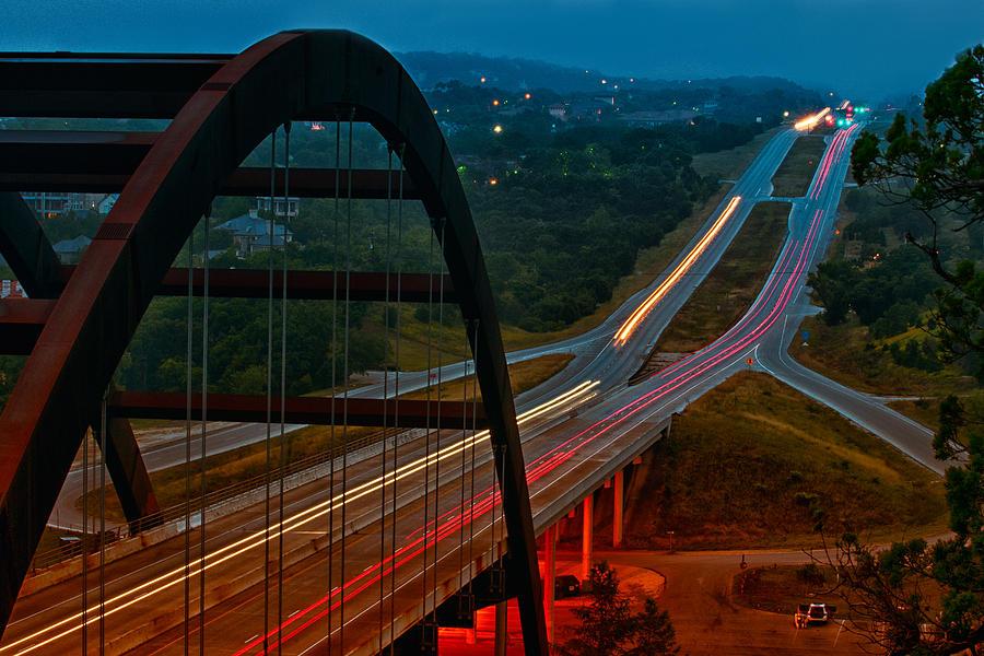 360 Bridge Morning Traffic Photograph