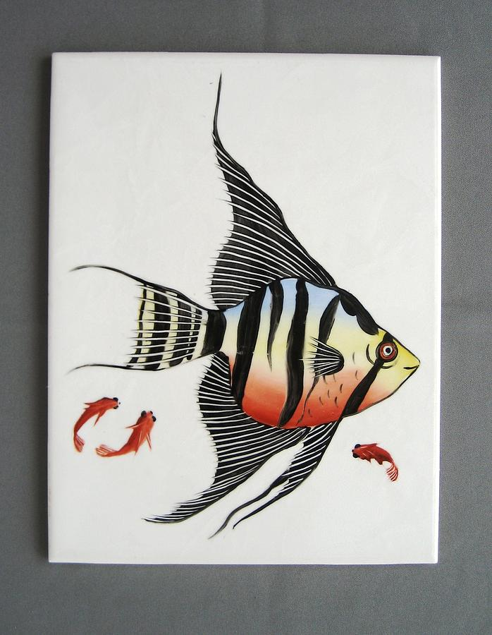 361 Tile With Fishes Ceramic Art