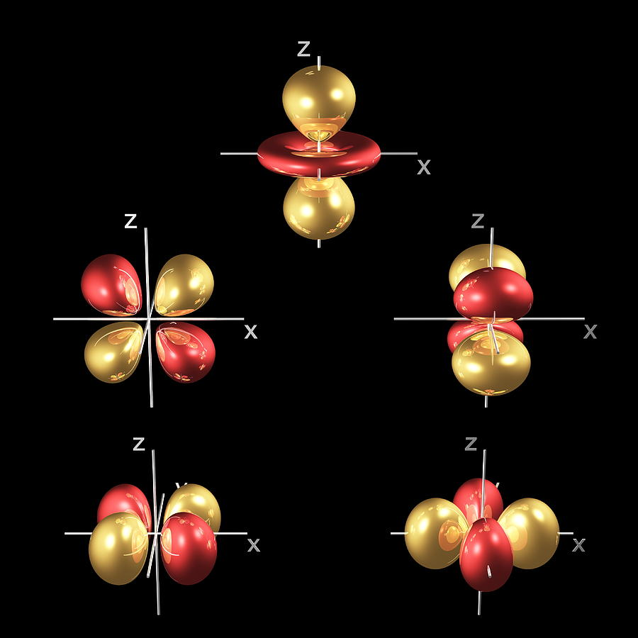 3d Photograph - 3d Electron Orbitals by Dr Mark J. Winter