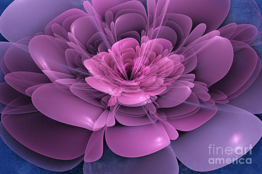 3d Flower Digital Art - 3d Flower Fine Art Print