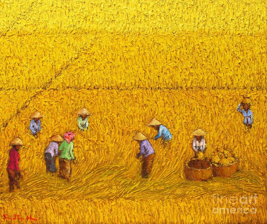 Harvest 13 Sunarto Srimartha Painting By Sri Martha