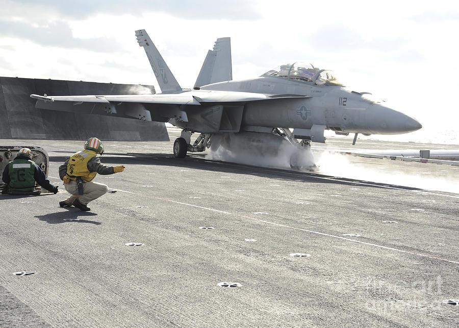 An Fa-18f Super Hornet Launches Photograph