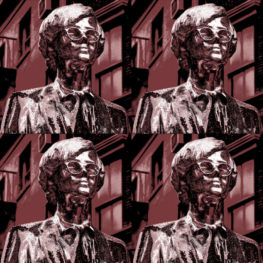 Andy Warhol Statue Union Square Nyc  Photograph  - Andy Warhol Statue Union Square Nyc  Fine Art Print