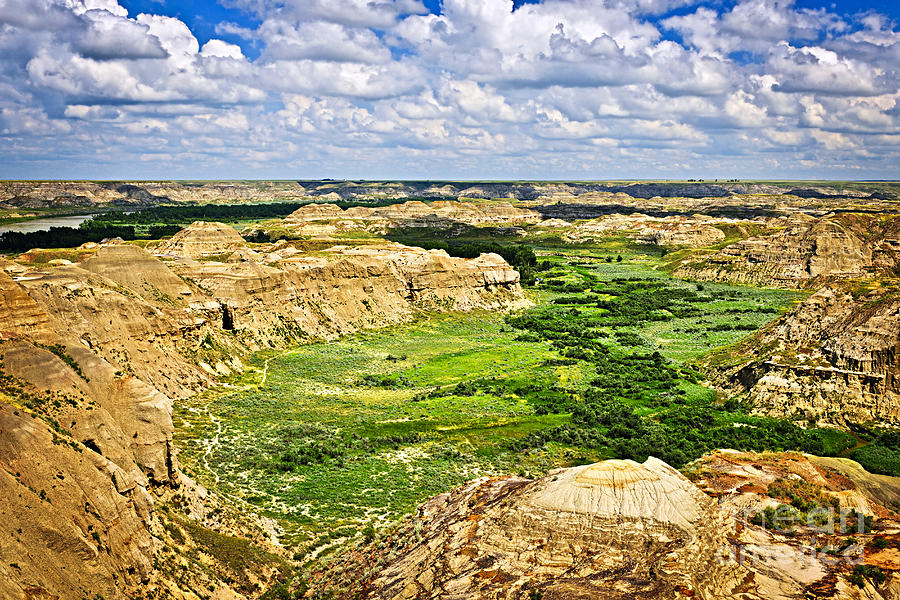 Badlands In Alberta Photograph
