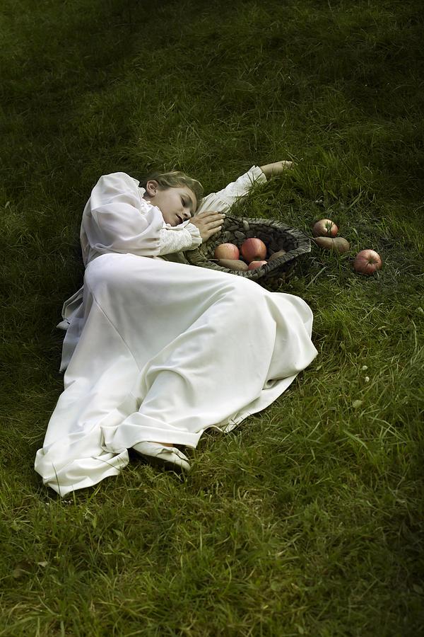 Woman Photograph - Basket With Fruits by Joana Kruse