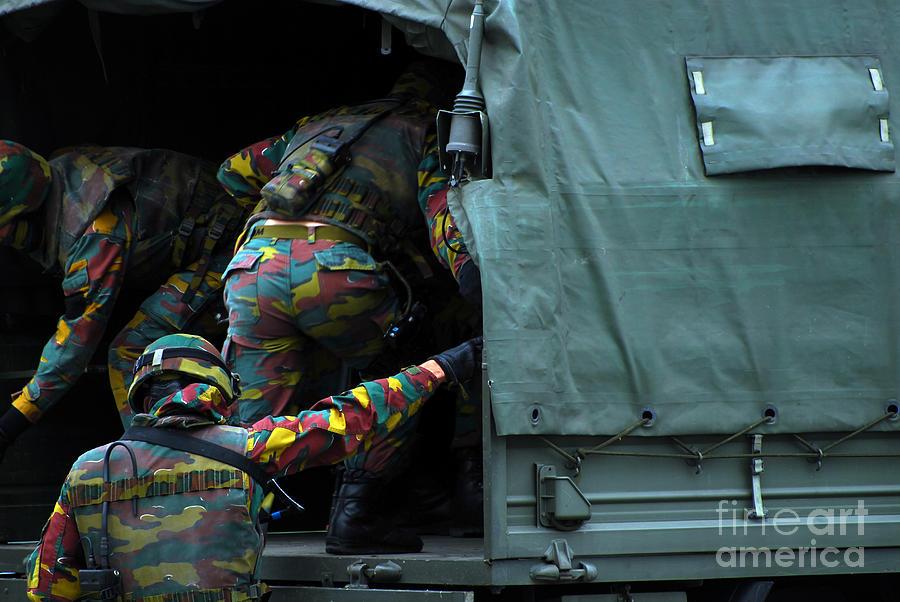 Belgian Paracommandos Entering Photograph