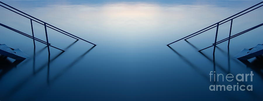 Nature Photograph - Blue Lake by Odon Czintos