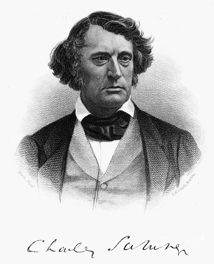 Charles Sumner (1811-1874) Photograph