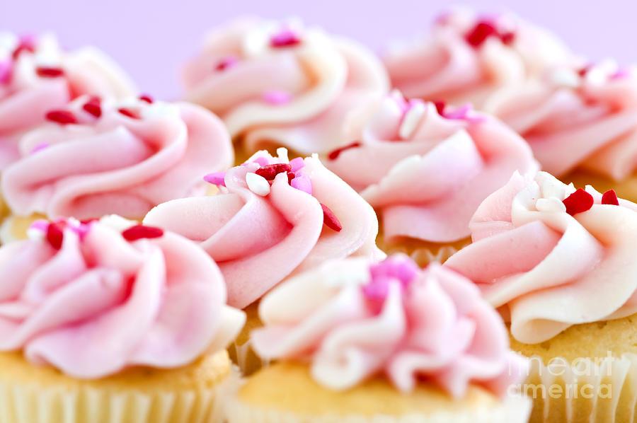 Cupcakes Photograph by Elena Elisseeva