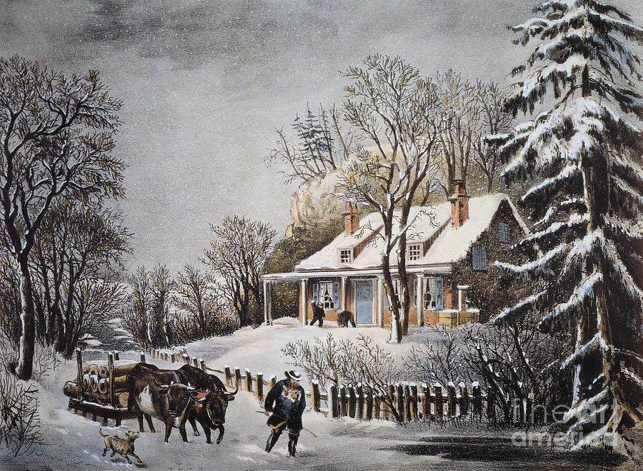 Currier Amp Ives Winter Scene By Granger