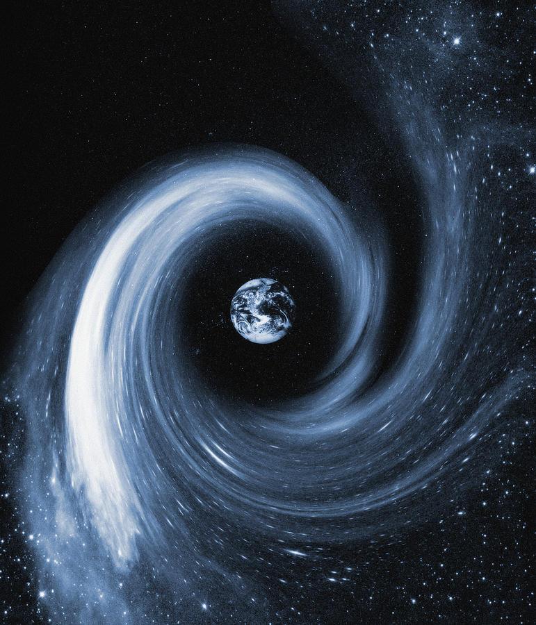 Earth In A Black Hole, Artwork Photograph by Mehau Kulyk