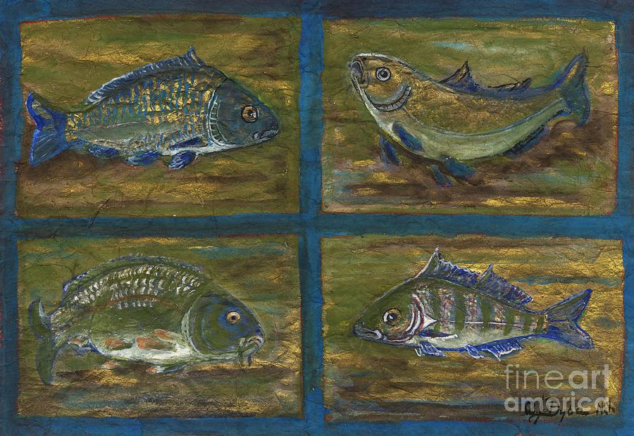 4 Fishes Painting  - 4 Fishes Fine Art Print