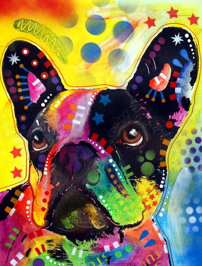 French Bulldog Painting  - French Bulldog Fine Art Print