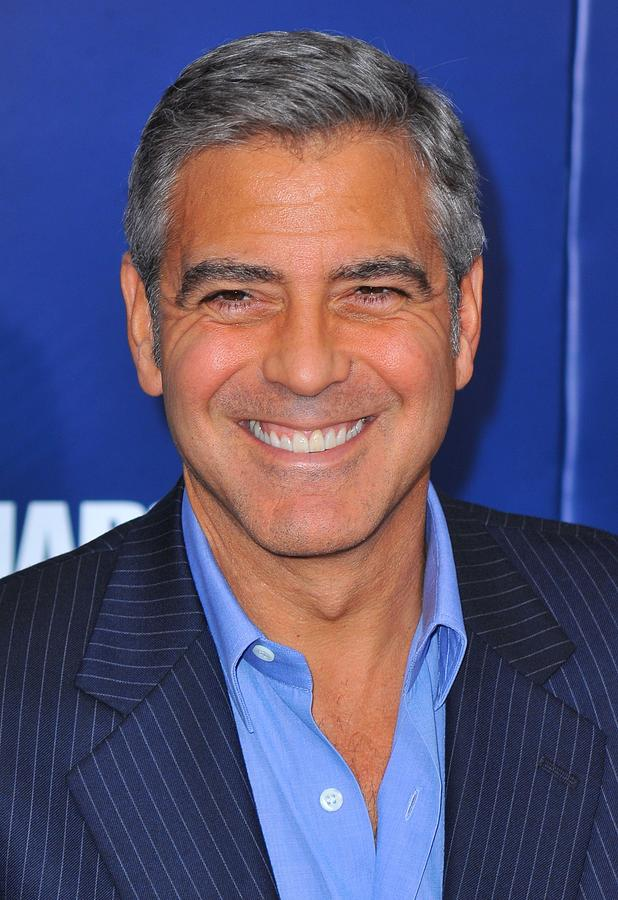 George Clooney At Arrivals For The Ides Photograph  - George Clooney At Arrivals For The Ides Fine Art Print