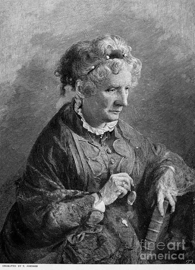 1876 Photograph - Harriet Beecher Stowe by Granger