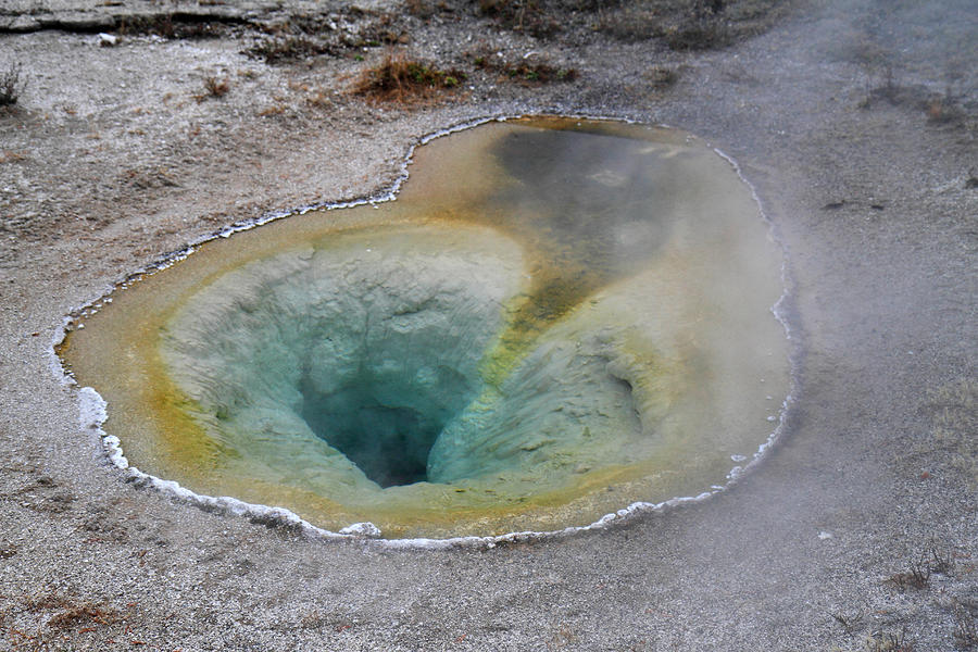 Hot Springs And Geysers In Yellowstone Photograph  - Hot Springs And Geysers In Yellowstone Fine Art Print