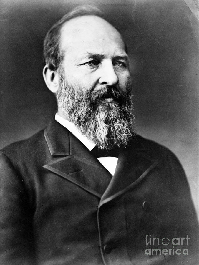 James A. Garfield, 20th American Photograph  - James A. Garfield, 20th American Fine Art Print
