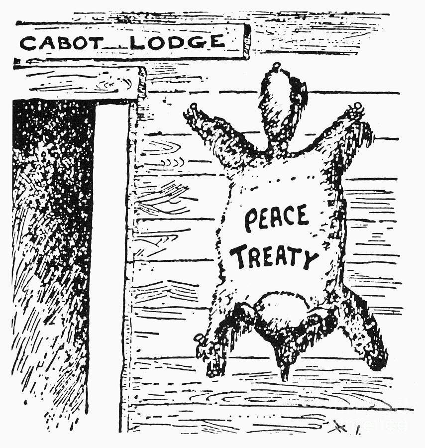 League Of Nations Cartoon Photograph