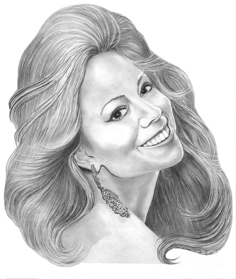 Mariah Carey  Drawing  - Mariah Carey  Fine Art Print