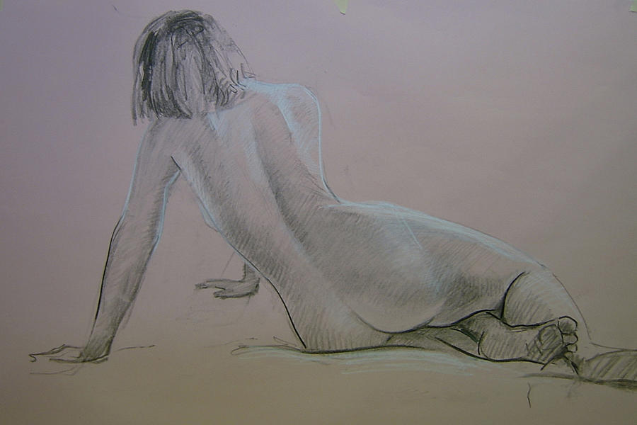 Model Study Drawing  - Model Study Fine Art Print