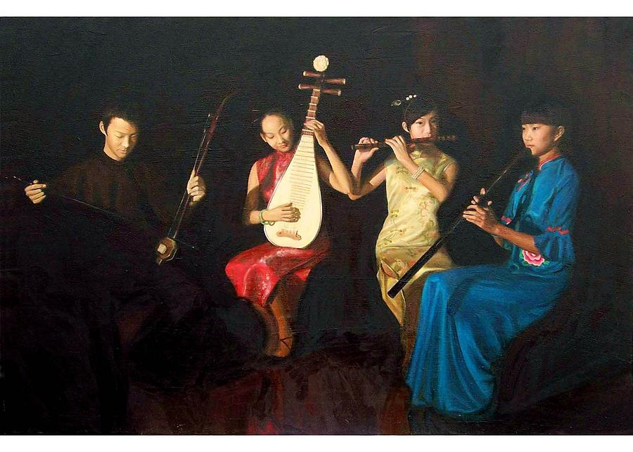 4 Musicians Painting