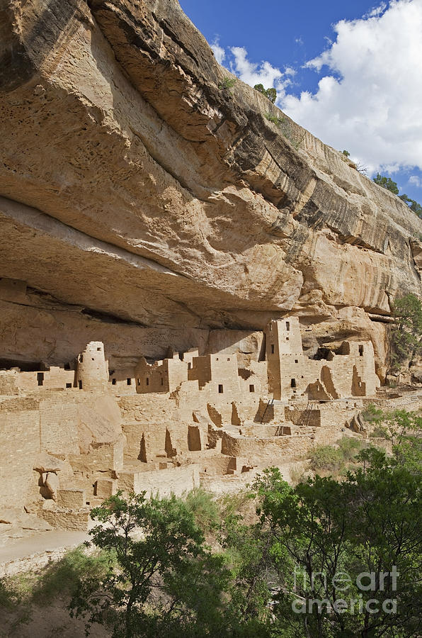 Native American Cliff Dwellings Photograph