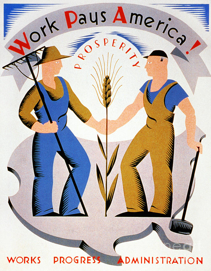 New Deal: Wpa Poster Photograph