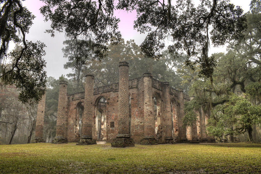 Old Sheldon Church Ruins Photograph  - Old Sheldon Church Ruins Fine Art Print