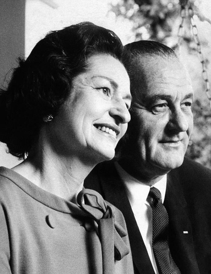 President Lyndon And Lady Bird Johnson Photograph