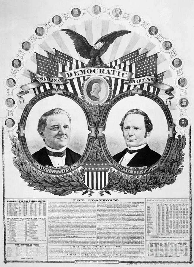 1876 Photograph - Presidential Campaign, 1876 by Granger