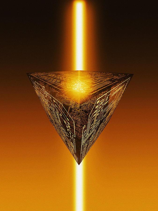 Qbit Photograph - Quantum Computing by Mehau Kulyk